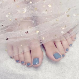 False Nails Short Toenails Artificial Feet Full Cover Square Solid Color Fake Women Press On Toe Nail Art Decoration