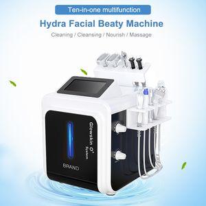 10 in 1 Hydra Facial machine Dermabrasion Water Aqua Oxygen Spray gun RF Hydro Microdermabrasion Peeling Vacuum Skin