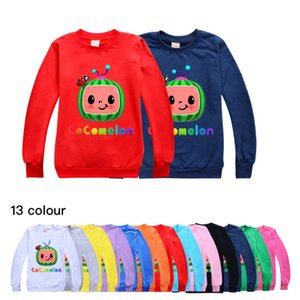 Kids Cocomelon T-shirt Cartoon Boys Girls Round Neck Sweater Children Spring Summer Cany Color Hoodie toddler baby pullover G49NKA7