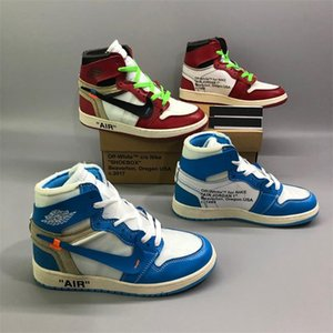 Designer Air ÀJ1 Off Jumpman White Triple Trainers 85 Blue Slides Luxury Des Chaussures Sneakers Basketball Running Shoes 418