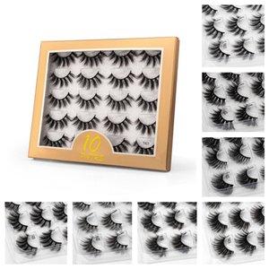 Makeup 10 Pairs Reusable Faux 3D Mink eyelash Cruelty Free False Eyelashes Eye Lash Natrual Long Fluffy Lashes