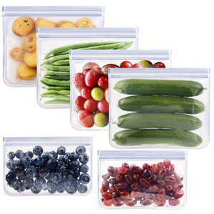 Reusable Food Storage Bags Snack Sandwich Fruits Freshness Protection Package Ziplock Bag Environmental Pouch