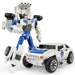 5 IN 1 Transformation Robot Toy boy City Secure Team Car Ship Helicopter Motorcycle aircraft Model ABS + Alloy Children Toy Gift