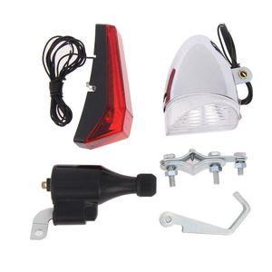 SX03 Bicycle Dynamo-Powered Ligth, lâmpada de uma peça, front de carro de bateria e kit traseiro luzes de bicicleta auto-eléctrica