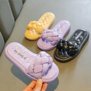 Slipper 2021 Summer Children's Knitted Fashion Casual Single Shoes Girls Non-slip Breathable Slippers