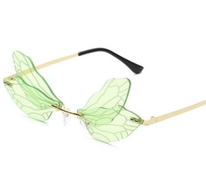 2021 rimless cut Dragonfly sunglasses in Europe and America