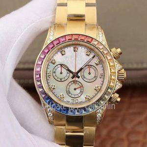 Caijiamin-2021 U1 качество мужские автоматические механические часы 40 мм полная из нержавеющей стали радуга алмазные рамки наручные часы Montre de luxe