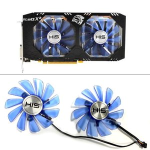 FDC10H12S9-C 4pin RX 580 GPU Cooler Fan For HIS RX580 Ice QX2 OC 4GB   Turbo 8GB Video Card Cooling Fans Laptop Pads