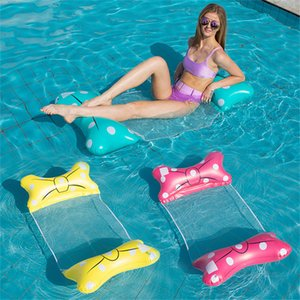 Air Inflatable Floating Raft Chair Floats & Tubes Environment Protection Foldable Back Row Sunshade Swimming Pool Enjoyable Lounger JY-1212