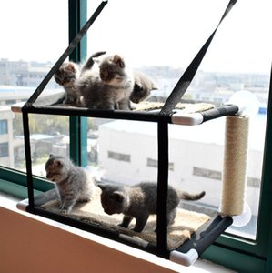 Cat Hammock Hanging Swing Cage Beds For Window Bed Cats Removable Double Layer Sleeping Nest With Scratcher & Furniture