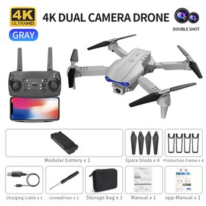 4K Foldable K3 Aerial Photography Drone Dual Camera WiFi FPV HD Wide Angle Drones UAV Visual Positioning Remote Control Quadcopter Follow Me