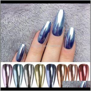 Glitter 1 Box Mirror Metallic Powder Dust Chrome Sier Dazzling Holographics Pigment For Uv Gel Nail Art Decoration Muh26 6W5Ul