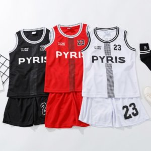 Basketball Suit for Baby Boy Girl Sport Jersey Football Training Clothes Sets 2PCS Vest + Shorts Children Summer Tracksuit