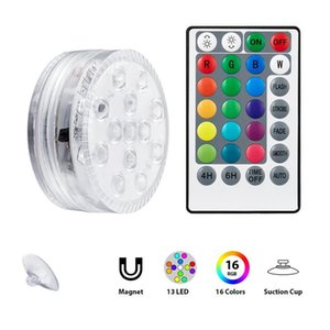 Operated RGB Led Submersible Light Underwater Night Lamp Garden Swimming Pool For Wedding Party Vase Bowl Lights