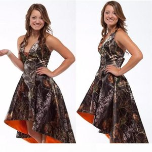 New Sexy High Low Camo Prom Dress Formal Evening Party Gown Fiesta Formal Bridesmaid Dress Custom Size