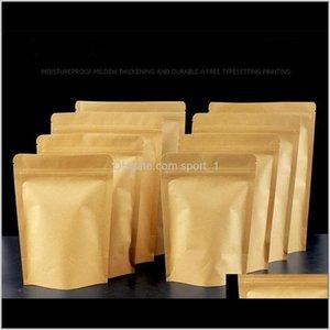 Bulk Kitchen Storage Housekeeping Organization Home Garden Drop Delivery 2021 11 Sizes Environment Aluminuium Paper Zipper Brown Craft Foil R