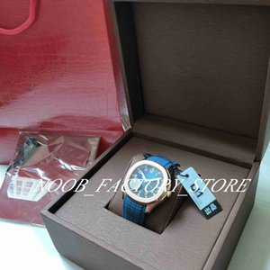 Watches Men U1 Factory Rose Gold 324 Automatic Movement Sport Blue Dial Mens Watch Wristwatches Diving Super Luminous blue rubber strap original box
