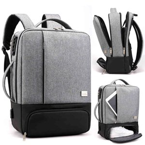 Backpack Laptop Gentlemen Backpacks 17 Inch 15.6''Anti-theft Male Notebook Back Pack Office Women Travel Baggage