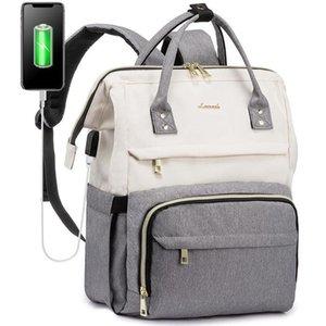 Çantalar LoveVook Sırt Çantası 15.6 inç Laptop Çantası USB Şarj Seyahat Kadınlar Çanta Erkek Okul Su Geçirmez