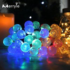 Cordes 12/22 mètres LED Solar String String Fairy Lights Extérieur imperméable Crystal Ball Lamp Decor Jardin HolidayTwinkle Lumière Noël