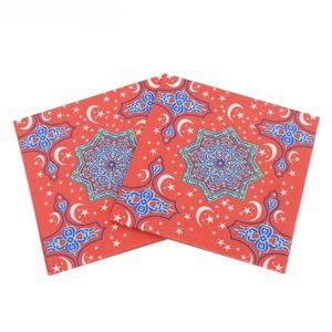 Ramadan Party Napkin Square 20pcs lot Disposable Tissue Paper Eid Mubarak Happy Ramadans Event Celebration Tableware OOD5998