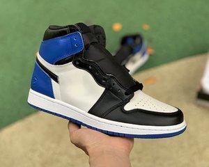 Jumpman 1 Высочайшее качество Баскетбольные Обувь Человек и Женщина Королевский университет Северной Каролины Hight Classic High White Black Blue Blue Blue Blue Blue Bluad Conlance