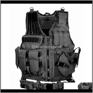 Vests Clothing Gear Drop Delivery 2021 Tactical Multipocket Swat Army Cs Hunting Vest Camping Hiking Accessories T190920 Ey0Cd