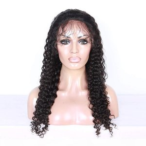Curly Human Hair 360 Lace Frontal Wigs For Black Woman Deep Part 100 Human Hair Wigs Pre Plucked Hairline Full Lace Wig