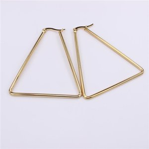 44mm-70mm Triangle Coil Earrings Simple Exaggeration Wear Does Not Fade Special Wholesale And Retail SL83 Hoop & Huggie