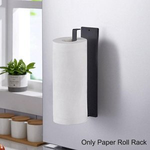 Towel Racks Wall Mounted Magnetic Adsorption Holder Stainless Steel Good Bearing Capacity Toilet Paper For Home Bathroom