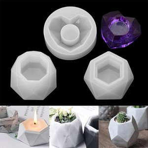 Concrete Cement Clay Mold Silicone Resin Mold Candle Soap Making Mould 3D Silicone Molds for Epoxy Resin Succulent Flower Pot 4735 Q2