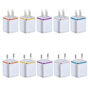 Dual Port USB настенное зарядное устройство 5V 1A квадратный дизайн зарядки адаптер красочный и небольшой размер