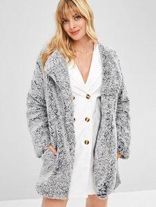 Winter New Arrival Open Front Fluffy Longline Coat Long Sleeve Jacket Ladies Warm Outerwear Cardigan Coat wjl0982