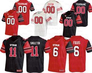 Custom Utah Utes College Football Jerseys 6 Devin Brumfield 25 Jaylen Dixon 15 Jason Shelley 18 Britain Covey