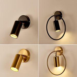Wall Lamps LED Living Room Sconces Light E27 Mounted Adjustable Rotating Lamp Metal Spotlight 5W Bedside Reading