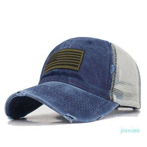 American Flag Women Snapback Caps Men Baseball Cap Hats For Women Mesh Bone USA Flag Gorras Hole Cotton Male Baseball Hat Cap 854 R2