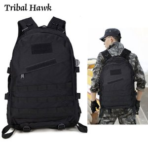 Tactical Military Backpack Army Molle Camo Rucksack 40L Outdoor Hiking Camping Hunting Climbing Travel Nylon Waterproof Bag Y200920