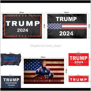 Festive Party Supplies Home Garden Drop Delivery 2021 Est 90150Cm Trump Flag 2024 Election Polyester Digital Print Flags Keep America Great A