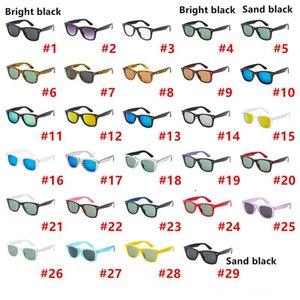 ماركة مصمم نظارات شمسية للرجال امرأة موضة ساحة نظارات الشمس العاكس طلاء النظارات 29 اللون