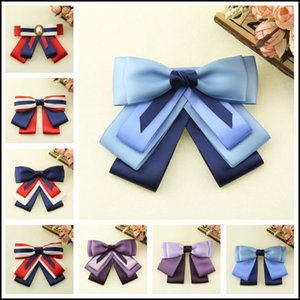 Fashion DIY Fabric Bow Brooches For Women Neck Tie Adjust Band Party Wedding Large Ribbon Brooch Jewelry Clothing Accessories Ties