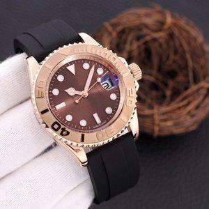 남자 시계 기계 자동 무브먼트 블랙 테이프 요트 스타일 40mm 자기 바람 시계 패션 디자이너 2813 전문 손목 시계 Reloj
