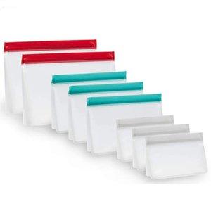 Nuevo bolso de conservación de alimentos de PEVA Reutilizable Sellado hermético Alimento Recipientes de almacenamiento fresco Versátil Bolsa de cocina de silicona Bolsas frescas DHL