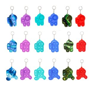 Among us Reversible Flip Push Pop it Bubble Sensory Fidget Toy Autism Special Needs Stress Reliever, Squeeze Great for kids toys Key chain