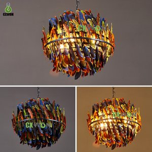 Modern industrial chandelier Nordic loft Pendant Lamp Creative Feather Ceiling Droplight for bars and restaurants