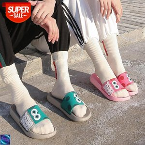 [in stock]Slippers women's indoor home non-slip household summer wear couple men's soft bottom bathroom plastic fashion sandals and sl #uK6U