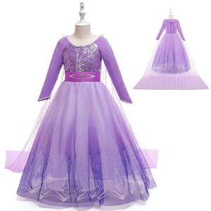 Girls Dresses Children Clothing Kids Clothes Princess Dress Lace Long-Sleeved Halloween Cosplay Party Wear B8550