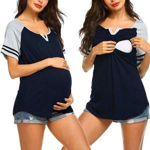 Maternity Tops & Tees Women Short Sleeve Plus Size Nursing T-shirt For Breastfeeding