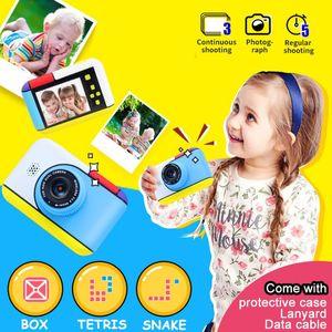 Portable Children 2800W HD Digital Camera Cute Cartoon Shape 2 Inches IPS Screen Mini Kids Toy Gift For Cameras