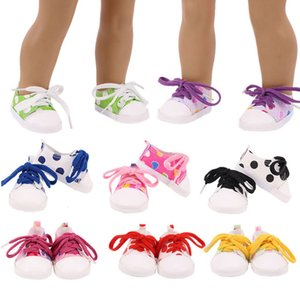 2021 new hand made doll shoes with shoelace for 18 inch american girl doll