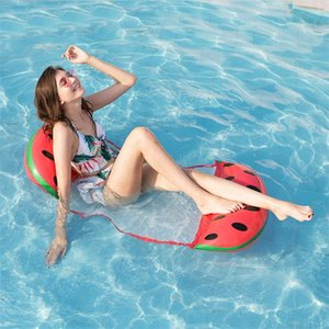 Watermelon Adult bowknot Swimming Pool Hammock Lounger, Multi Purpose Comfortable Inflatable Water Float Lounge